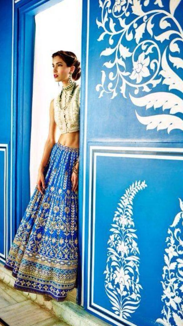 the blue of India