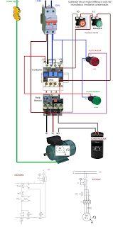 Esquemas eléctricos: conexion de un motor trifasico a una red monofasic...