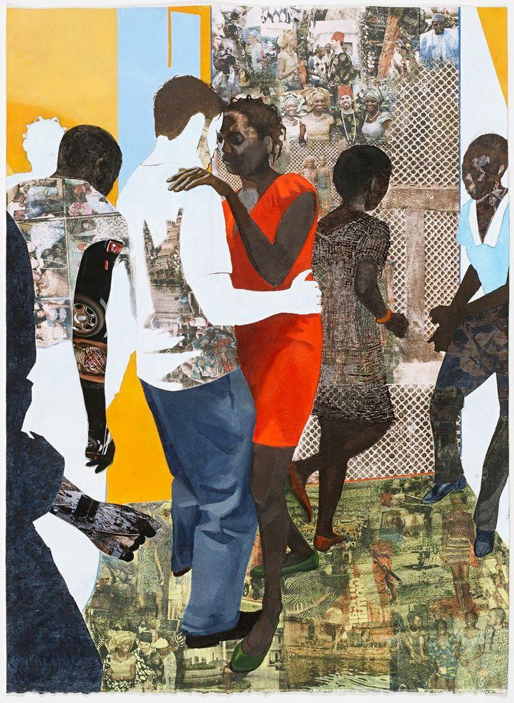 redlipstickresurrected: Njideka Akunyili Crosby aka Njideka Akunyili (Nigerian, b. 1983, Enugu, Nigeria) - Efulefu: The Lost One, 2011 Acrylics, Charcoal, Colored Pencils, Collage and Xerox Transfers on Paper