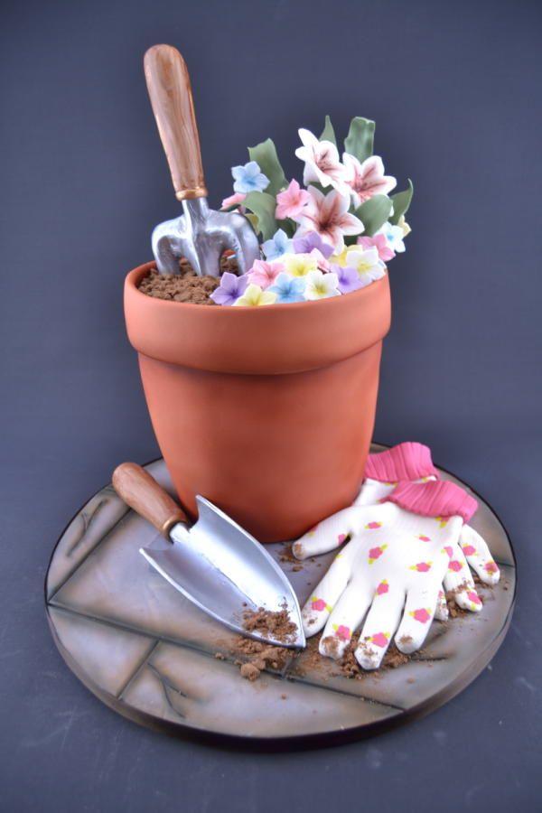 designer gardening gloves.  Delightful Shovel Gardening Fork and Gloves by Novel T Cakes 26 best Gumpaste Fondant Items Tools images on Pinterest
