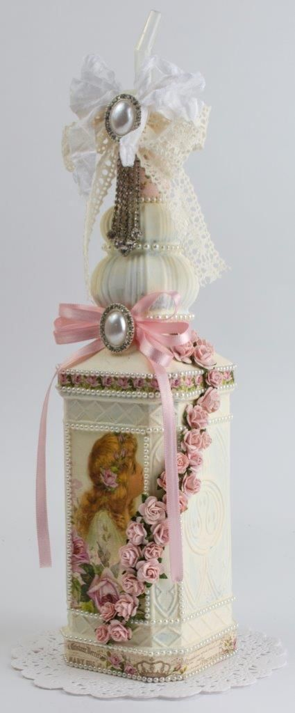 altered bottle #shabbychic
