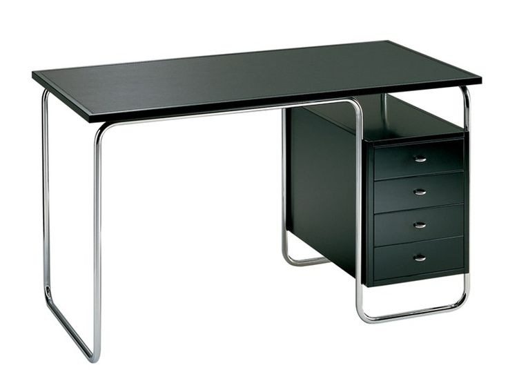 Stainless steel office desk with drawers COMACINA by Zanotta | design Piero Bottoni