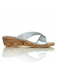Unforgettable - Silver thong with crystals on a wood-grain wedge casual wedding bridal shoes $49.00 #shoeenvy #shoes #fashion #instalove #pretty #ethical #glamorous