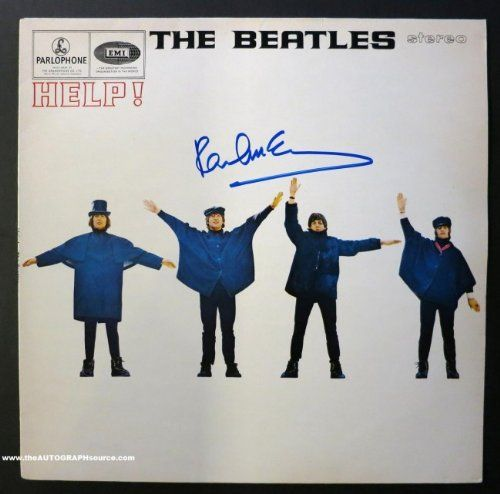 "Synopsis  A UK Version of The Beatles ""HELP!"" album autographed on the cover in blue marker by #PaulMcCartney. Sold with Certificates of Authenticity from both The Autograph Source (Lifetime Guarantee) and independent third-party authenticator PSA/DNA."