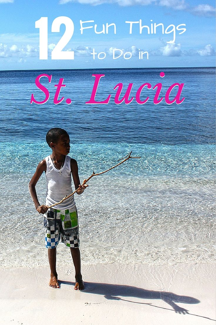 12 fun things to do in St Lucia - read more on the blog!  Includes snorkelling, hiking the Pitons ad zip-lining through the rain forest! #caribbean #StLucia