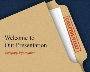 Confidential #Powerpoint #Template is a free #background for Microsoft PowerPoint.  Download this PowerPoint template for FREE should you need a professional PPT template with confidential watermark in the slide design.