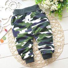 Primavera e outono de algodão crianças calças de camuflagem calças bebé crianças calças calças do bebê roupas de bebê 0 - 2 ano(China (Mainland))