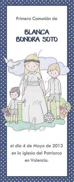 Blanca con sus hermanos