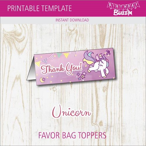 picture relating to Free Printable Bag Toppers Templates identify Absolutely free Printable Rainbow Unicorn Prefer Bag Toppers Unicorn