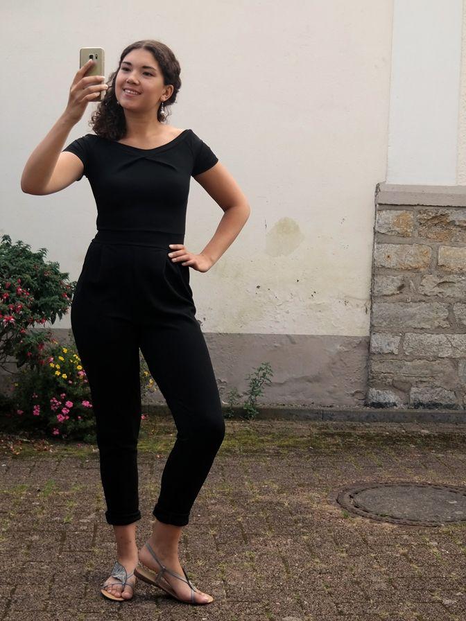 Schwarzer Jumpsuit, Fashion Blogger