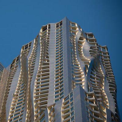el nuevo edificio de frank gehry en nueva york esta a punto de ser terminado y