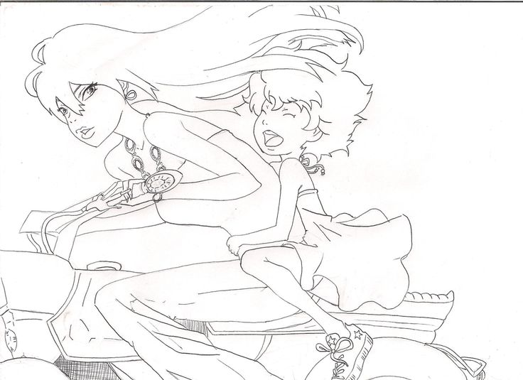 Michiko to Hatchin | michiko hatchin coloring page by Rua-tapu