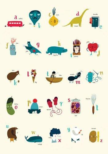 """Lupio - plakat """"alfabet"""""""