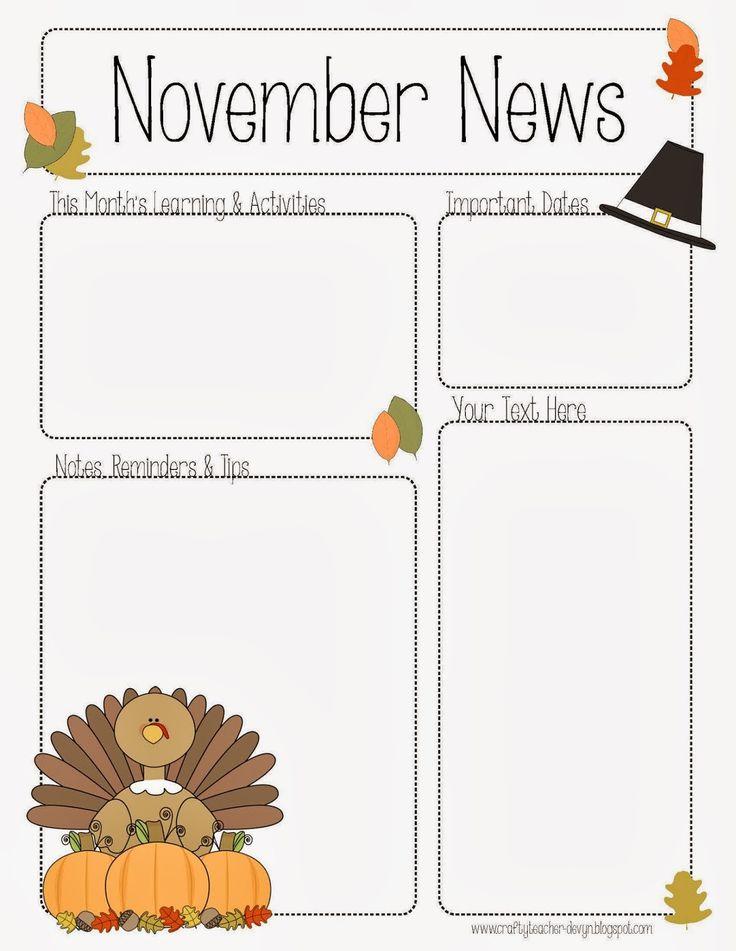 preschool newsletter template the crafty teacher