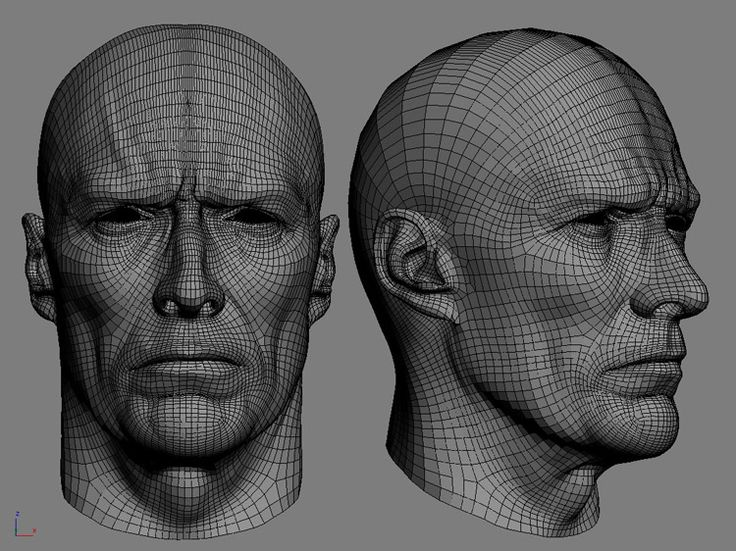 147 best 3d wireframe characters images on pinterest for 3ds max face modeling