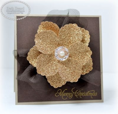 Stampin' Up! Blossom Petal  by Beth Beard at My little craft blog: Merry Christmas