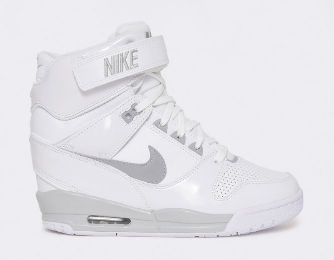 #Nike Air Revolution Sky Hi Wmns - White #sneakers #musthave