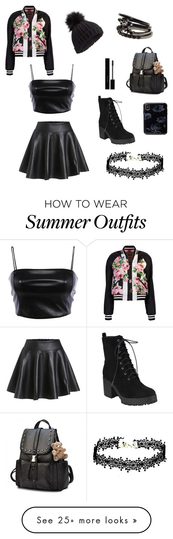 """""""Chic and Badass #feminism"""" by iceflower-ss on Polyvore featuring Miss Selfridge, Gucci, Dolce&Gabbana and allblackoutfit"""