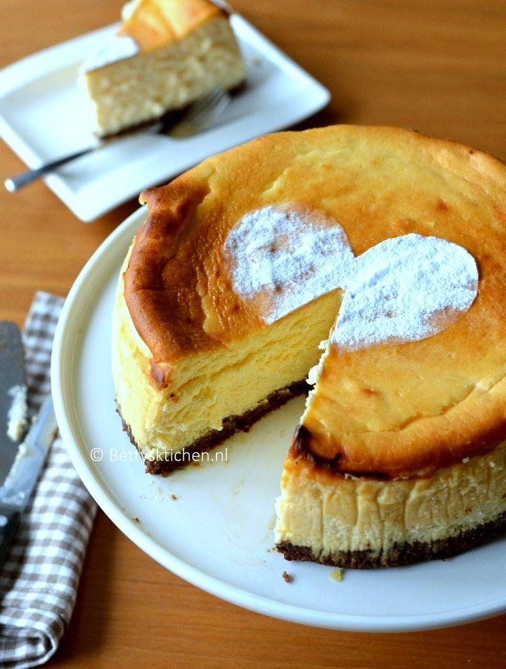 recept voor klassieke cheesecake maken betty's kitchen