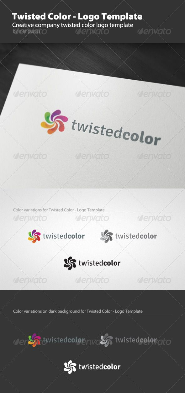 Twisted Color  Logo Template — Vector EPS #color #press • Available here → https://graphicriver.net/item/twisted-color-logo-template/1301803?ref=pxcr