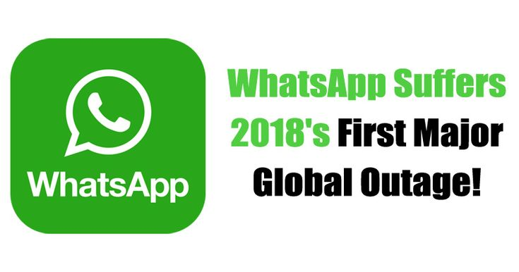 Something wrong happened with WhatsApp at the start of this year. The instant messaging platform, WhatsApp, suffered a major global outage.