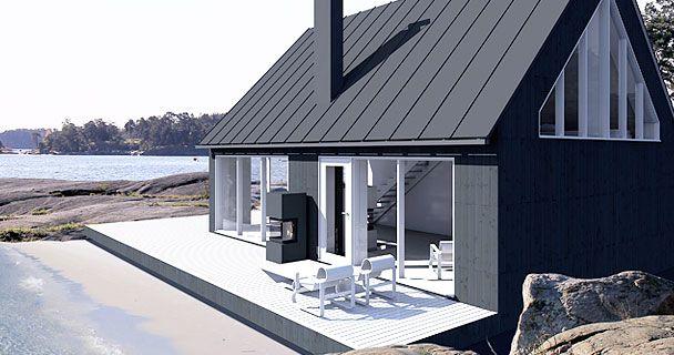 Moderni mökki – Sunhousen Saaristolaistalot -mallisto