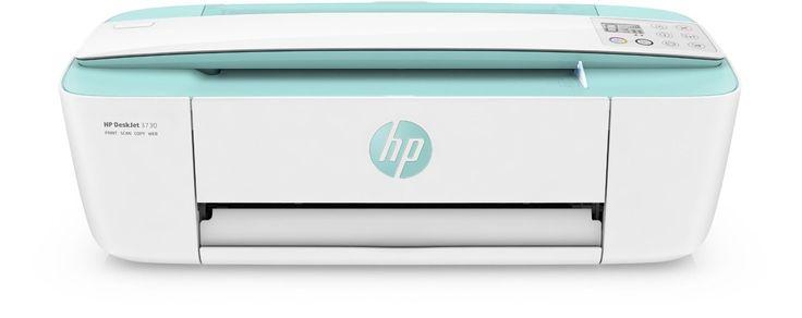HP DeskJet 3730 Tintenstrahl-Multifunktionsgerät türkis/weiß - der stylische Tintenstrahldrucker fürs Studium oder Homeoffice