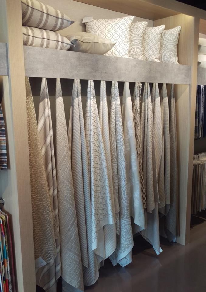 Fabric display for pt fabrics future showroom for Curtain display ideas