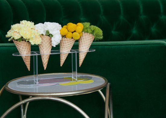 flowers + ice cream cones / Oh Joy for Nod Launch Party