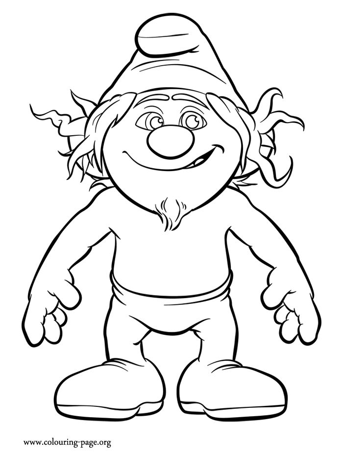hackus smurf coloring pages - photo#1