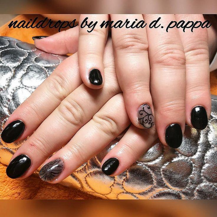 #naildrops #manicure ##lacenails #blacknails