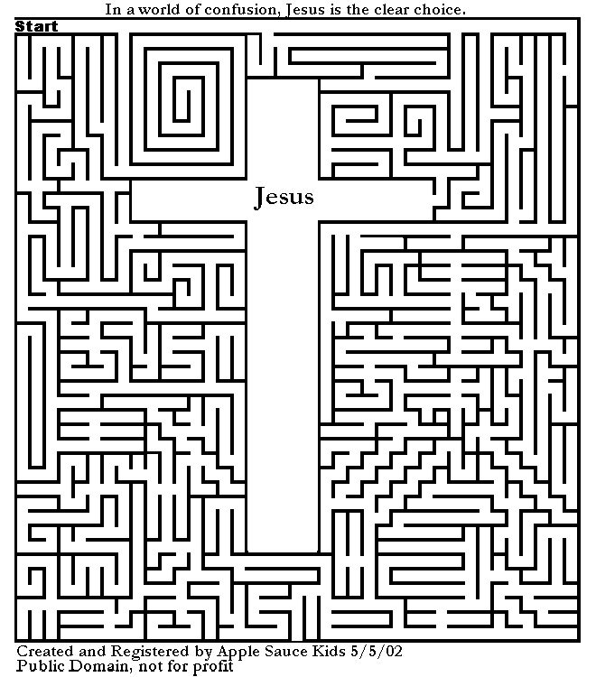 Superb Coloring Pages Of Jesus On The Cross 79 Cross Maze Catholic Activity