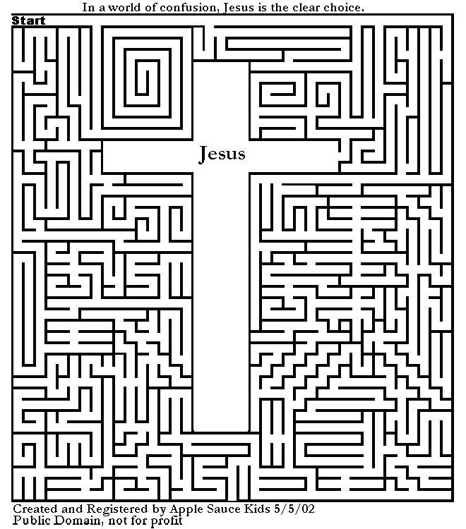 Jezus kruis doolhof