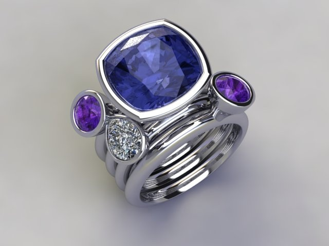 'Purple Daquiri' stacker ring available at  www.lucymecklenburghjewellery.com in association with www.diamondgeezer.com