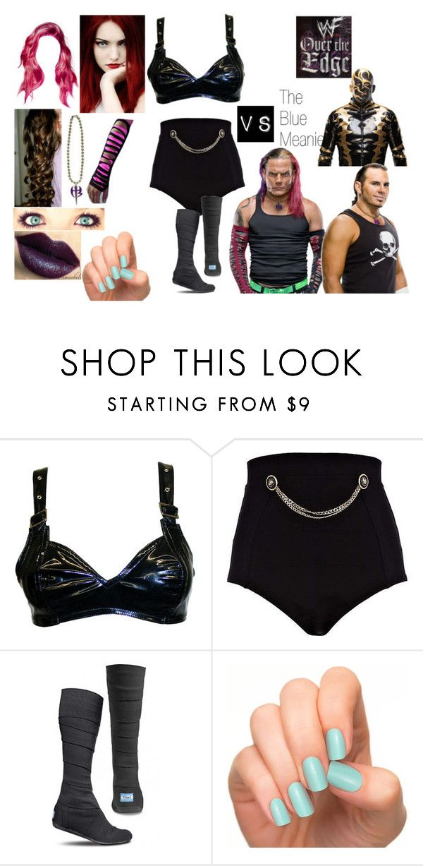 """""""Over the Edge (1999)"""" by anaeve ❤ liked on Polyvore featuring River Island, TOMS, MAC Cosmetics and Incoco"""