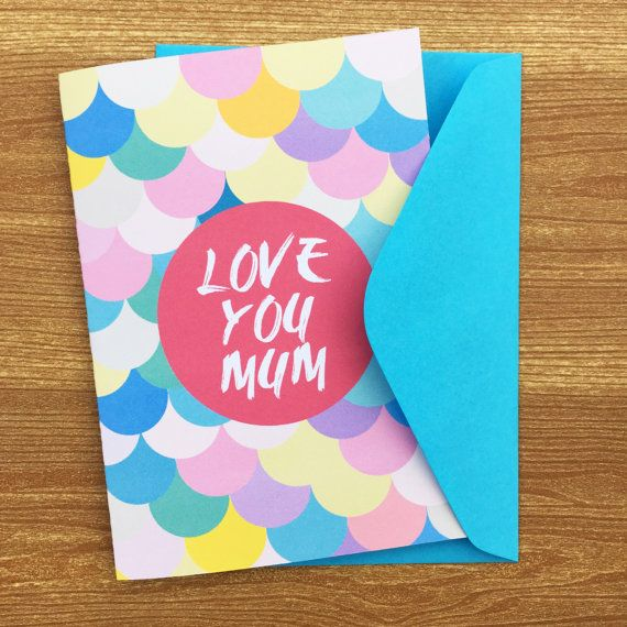 Love you Mum card by HeidiLDesign on Etsy