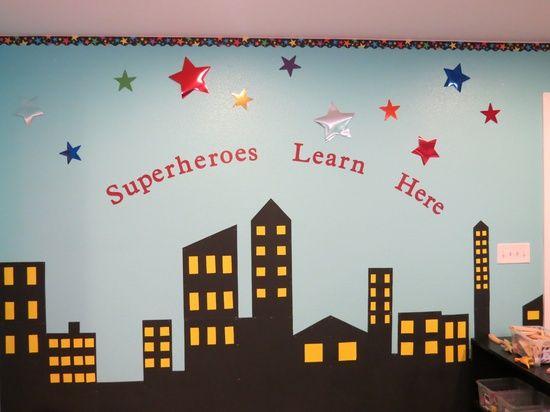 add pictures of children as superheroes to display? Superhero Classroom Theme | Super Hero Class Theme / Hero classroom