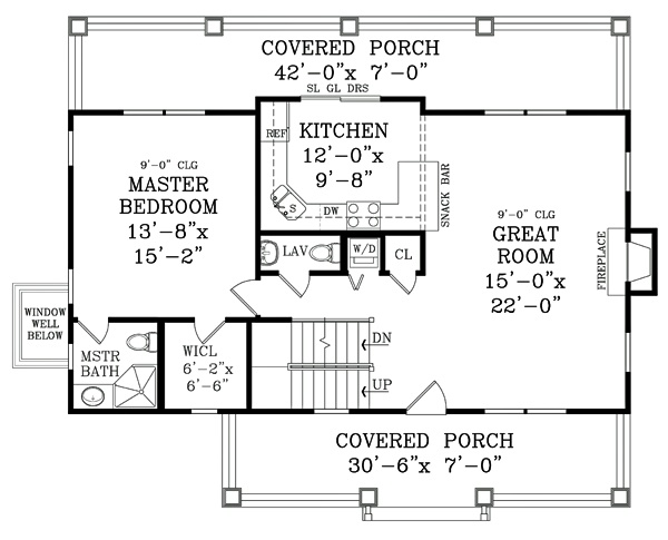 Craftsman Floor Plans With Basement: 51 Best Images About Cabins: Two Story With Basement On