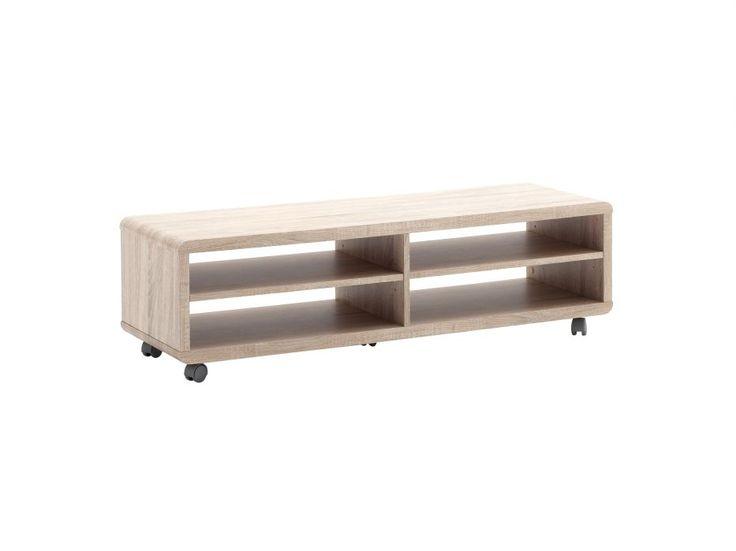 JEFF Tv-bänk 120 Ek i gruppen Inomhus / Förvaring / Tv-bänkar hos Furniturebox (100-58-77200)