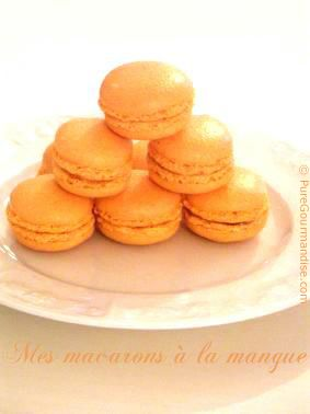 Macarons à la mangue - www.puregourmandise.com