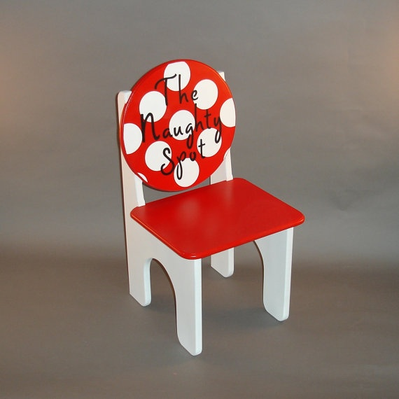 Time Out Naughty Chair in Red and White by GreatCustomFurniture, $77.00: Naughty Chair, Kid Fun, Project Daughter S, Things, Kid Stuff, Boy, Diy Projects