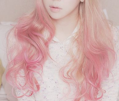 Long Pink ombre Hair