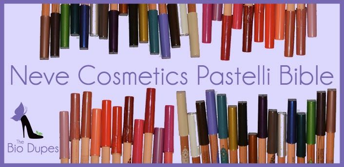 http://www.fashiondupes.com/2014/01/23-bio-dupes-neve-cosmetics-pastelli.html #bio #makeup #beauty #nevecosmetics #matite #lips #eyes #labbra #occhi #pastelli