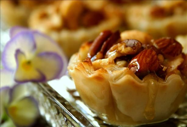 Smart shortcut for baklava because working with phyllo dough in my experience is not as easy as Food Network makes it look!
