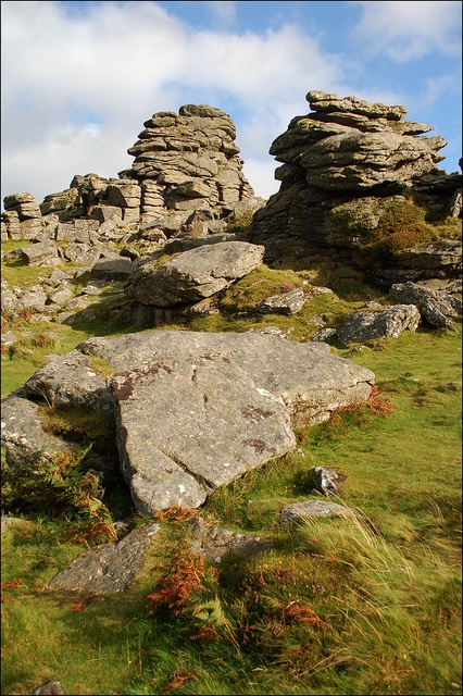 Hound Tor near Widecombe by Baz Richardson, via Flickr