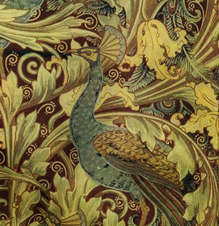 Peacock Garden by Walter Crane 12 x 12 inch Needlepoint Canvas