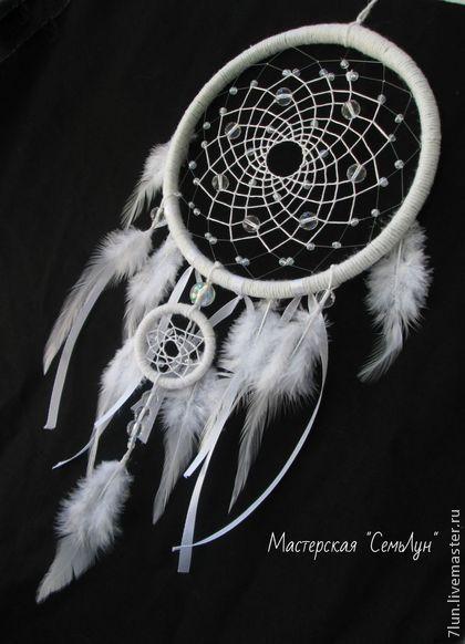 """Ловец Снов """"Воздушный"""" - белый,белоснежный,ловец снов,ловец сновидений"""