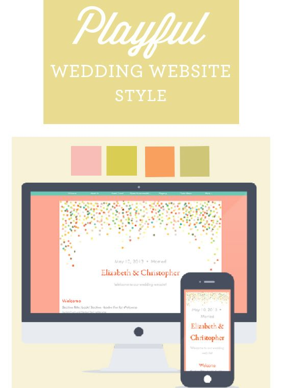 Planning A Wedding As Colorful Fun Your Personality This New Website Design