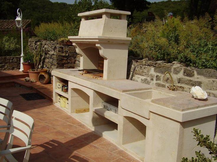 Pose installation Cuisine d'été - Barbecue pierre de taille Alès Nîmes Gard 30