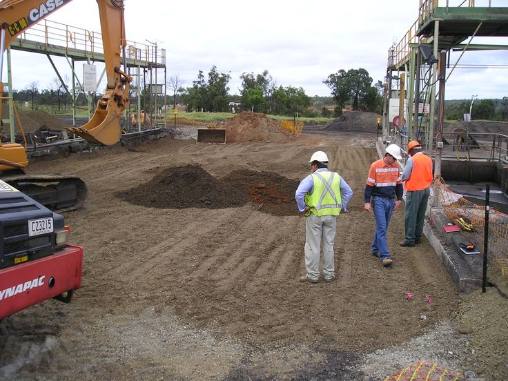Newlands wash pad earthworks